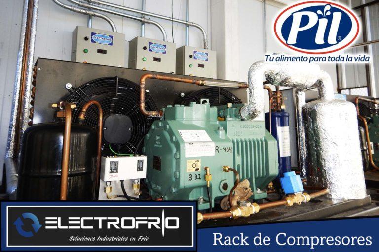 Electrofrío - Rack de compresores para Pil Andina en Oruro