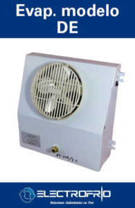 Electrofrío - Evaporador modeloDE-DL,-DJ