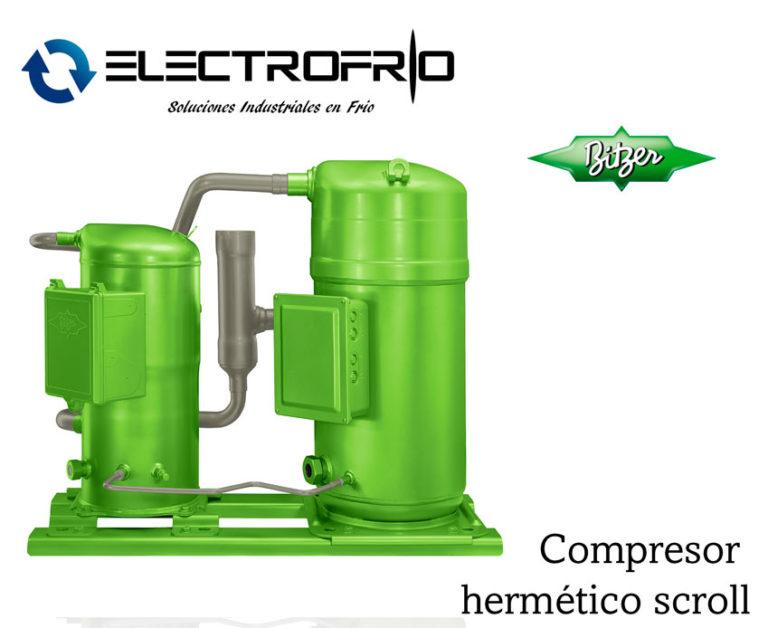 Electrofrío - Compresor hermético scroll bitzer